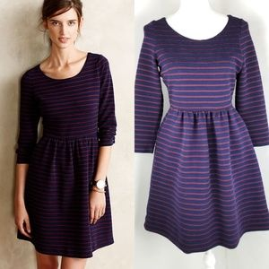 Maeve   Anthropologie Brenna Navy Dress Size 6